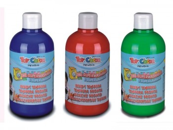 Farby tempera TOY COLOR butelka 500 ml różne kolory